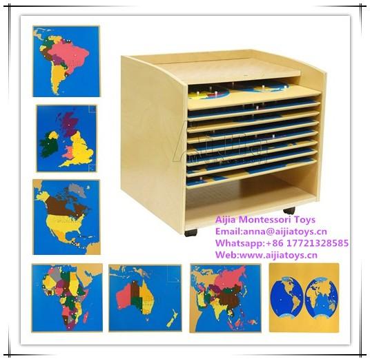 Montessori Puzzle Map Of World Parts Montessori Toys - Buy ...