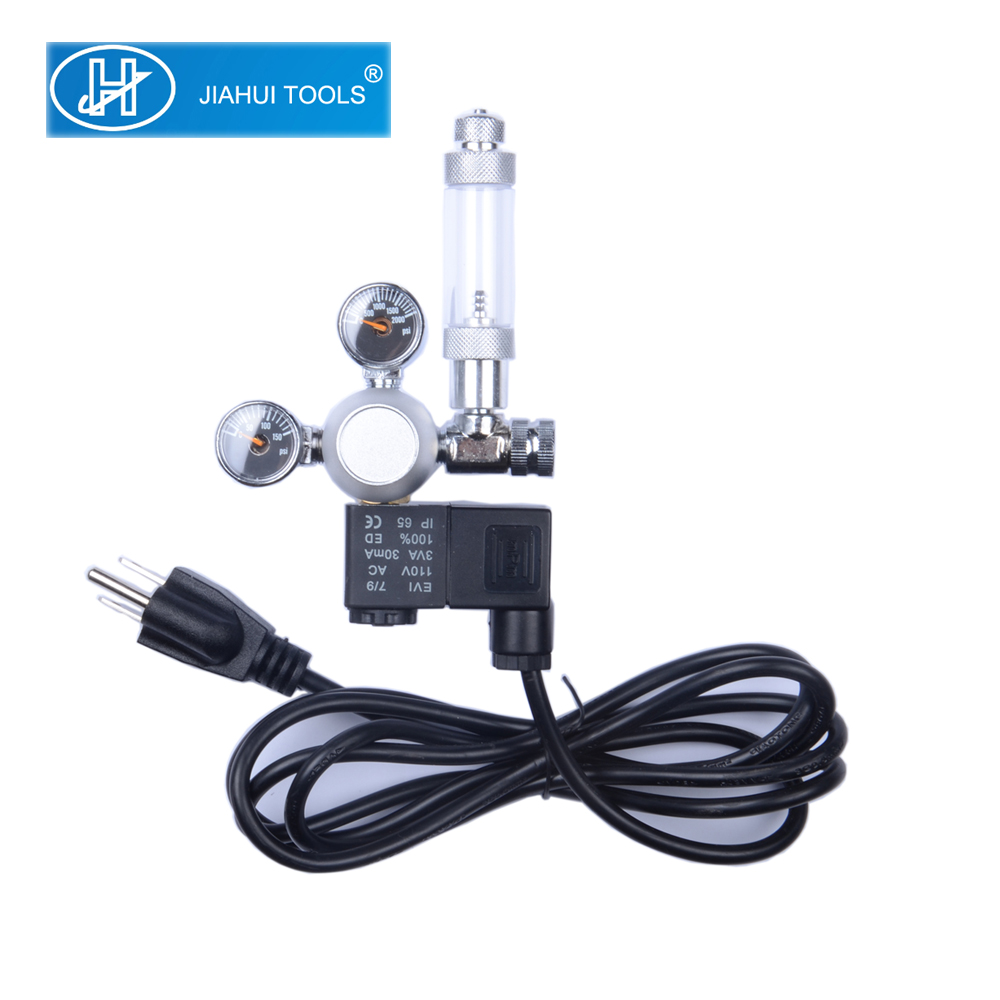 Aquarium co2 regulator messing body top kwaliteit flowmeter bubble counter