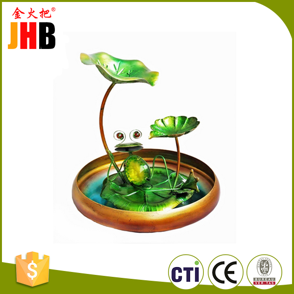 Metal Animal Pad Water Fountain with Stand