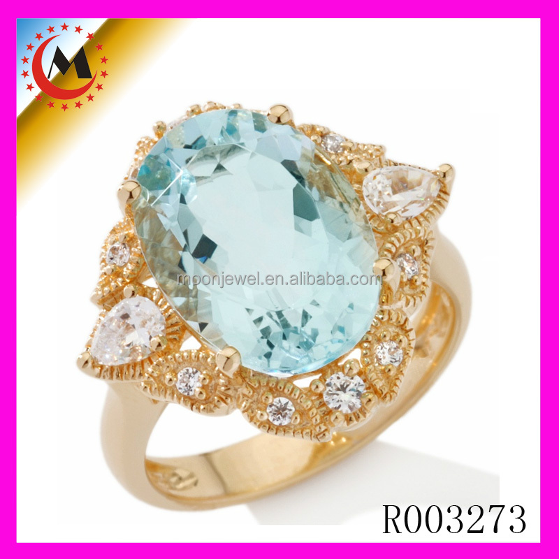 LATEST FASHION JEWELY WHOLESALE BLUE STONE 2 GRAM GOLD RING,FANCY GOLD JEWELRY DESIGN ITALIAN GOLD RING WITH DIAMOND