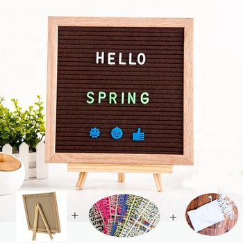 cheap wholesale home decor 10x10 felt letter board with stand & letters & bag