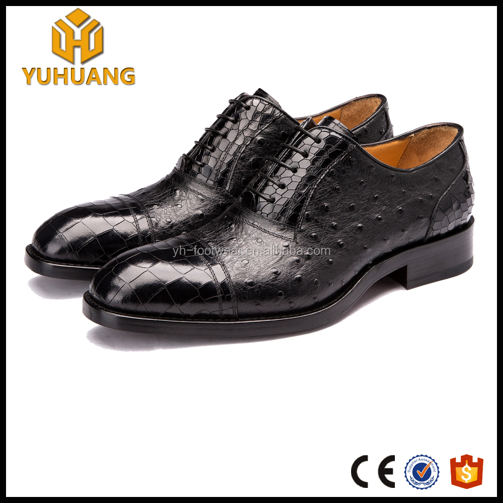 2669fe2b6698 Успешных людей роскошные страуса крокодиловой кожи на заказ обувь ручной  работы