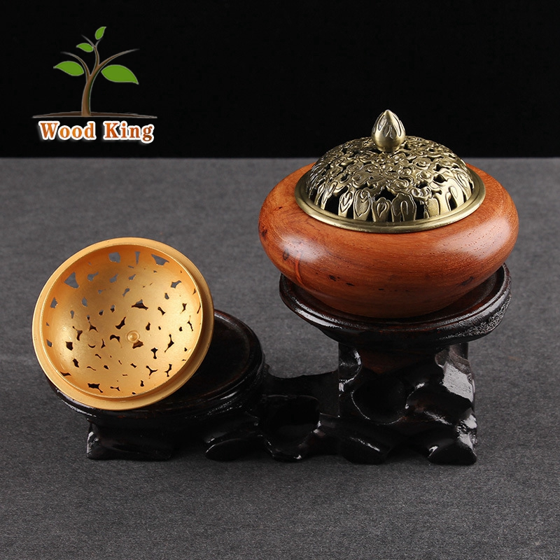 Wholesale Hua Limu Study Joss Stick Plate Wooden Car Brass Incense Burner India