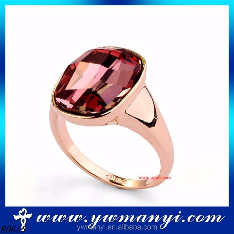 High quality cheap ruby factory price fashion simple affordable wedding rings R0615