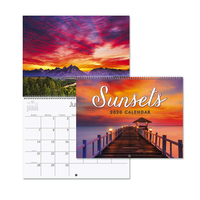 2019 2020 Cheap Full Color Printing Staple Academic Monthly Wall Calendar
