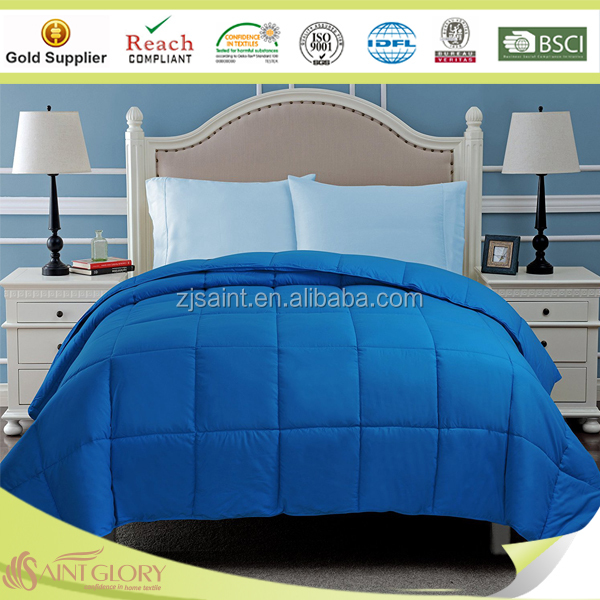 High Quality Dyed Polyester Duvet Hot Sale Synthetic Quilt