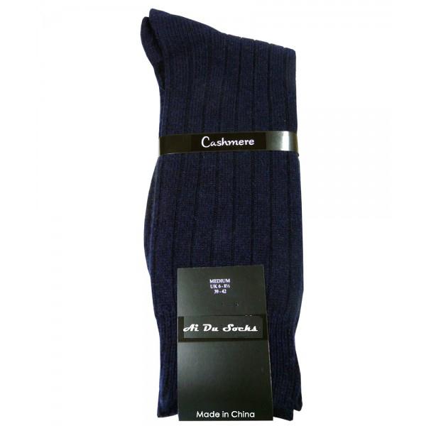 1775b99860de Men Dress Socks with Classical Navy Blue Stripes England Style Warm Winter  Sock