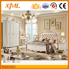 Wooden furniture designs Italy style white PU bed