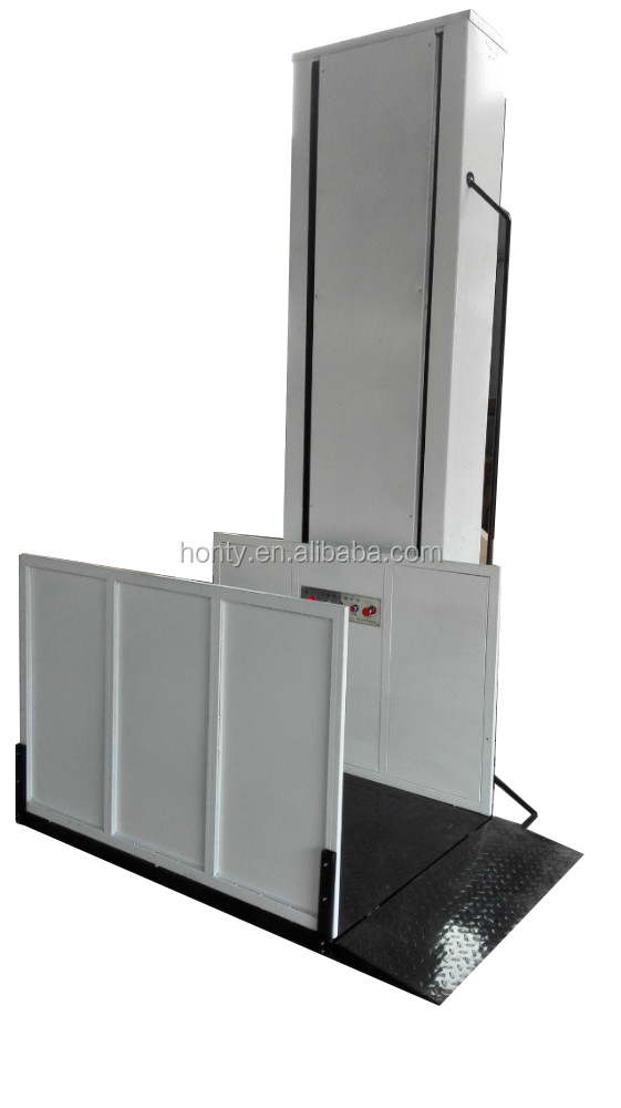 Hydraulic Vertical Lift : Vertical type hydraulic accessible lift with ce
