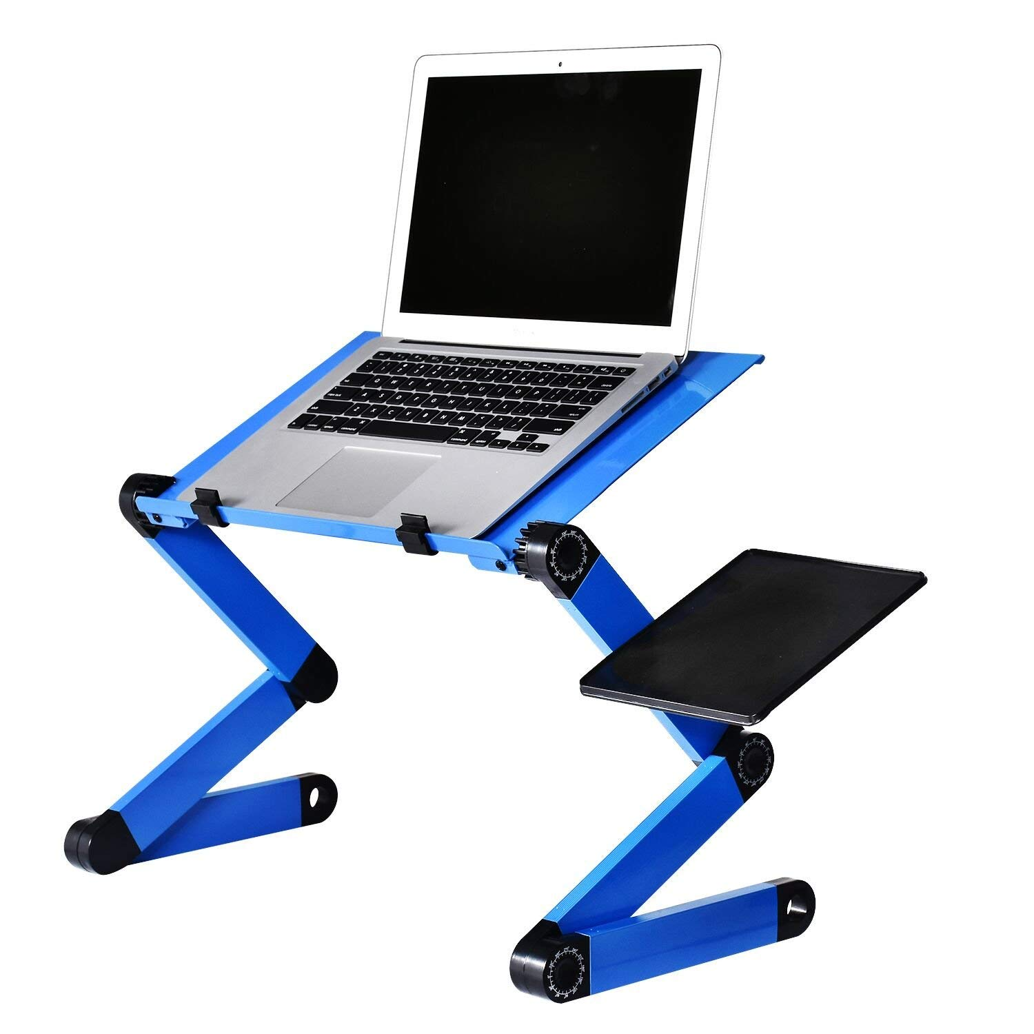 B BAIJIAWEI Adjustable Laptop Stand Desk Table for Bed and Sofa, Portable Laptop Computer Desk with CPU Cooling Fan and Mouse Pad Side