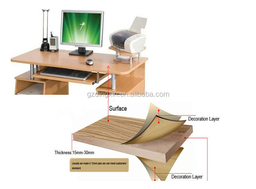 Tafel Voor Printer : Houten pc melamine computer bureau computer tafel met printer