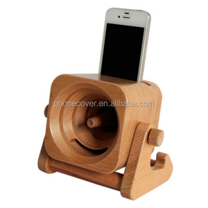2018 Universal Natural Wooden Mini Speaker for iPhone 2 in 1 Wood Phone Stand