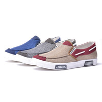 Men Flat Casual Canvas Shoes Slip-on Shoes For Man