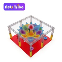 Kids soft play rope hand crochet knit indoor playground hanging net
