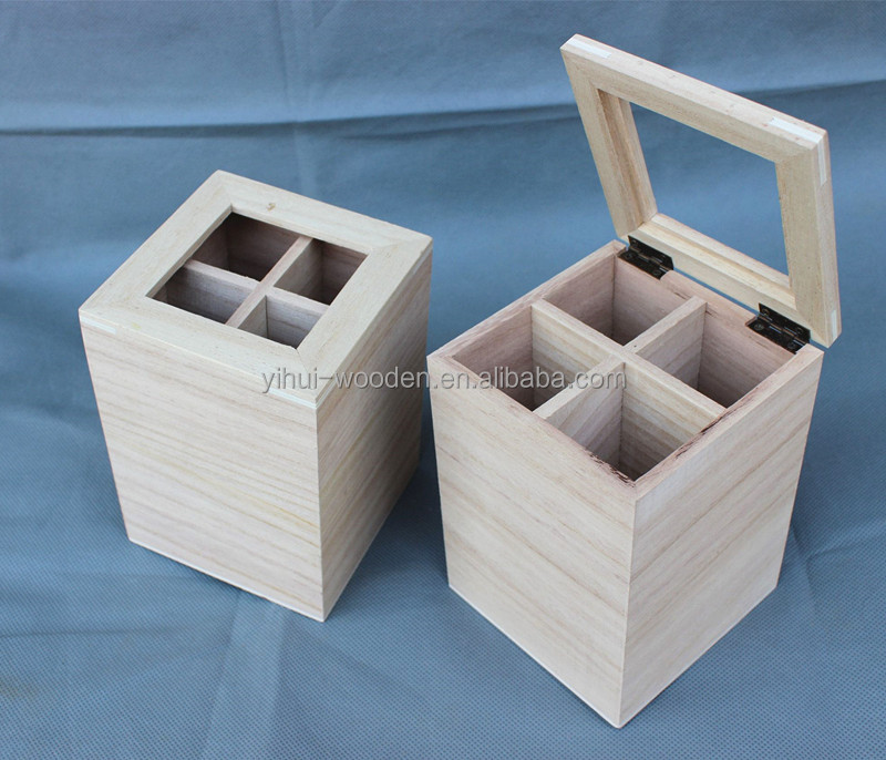 Custom Wooden 4 bottles Wine Shipping Beer Crates for Sale