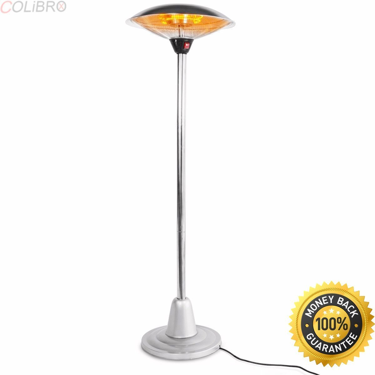 """COLIBROX--24"""" Electric Patio Heater Outdoor Free Stand Infrared Radiant adjustable height. electric patio heater reviews. outdoor heater home depot. home depot electric patio heater."""