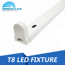 GRG Thick 0.3mm tube bracket T8 fluorescent light fixture without ballast