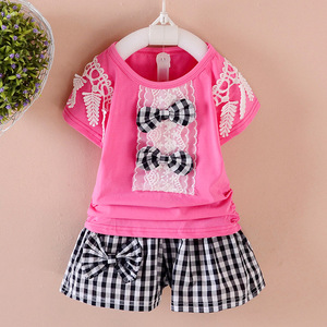 Wholesale Latest New High Quality Summer Season Girls Clothes 2 Pieces Sets