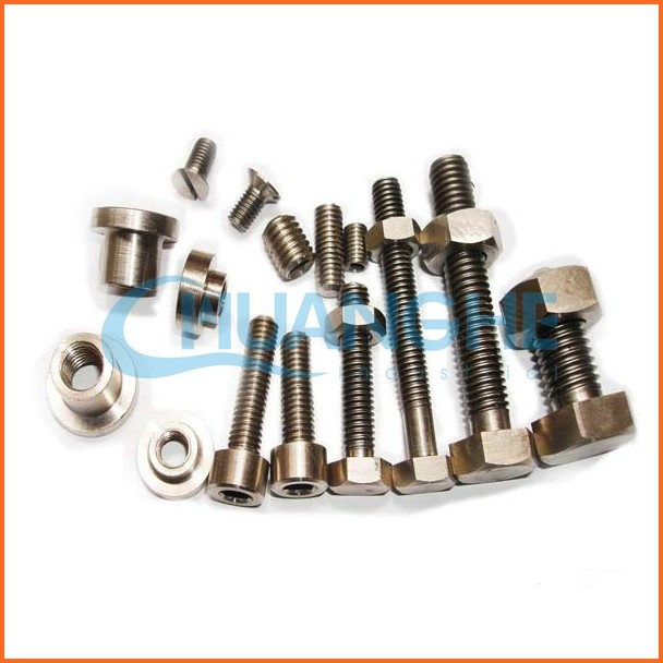 Fasteners Cheap gr2 din933 hexagonal titanium bolts and nuts