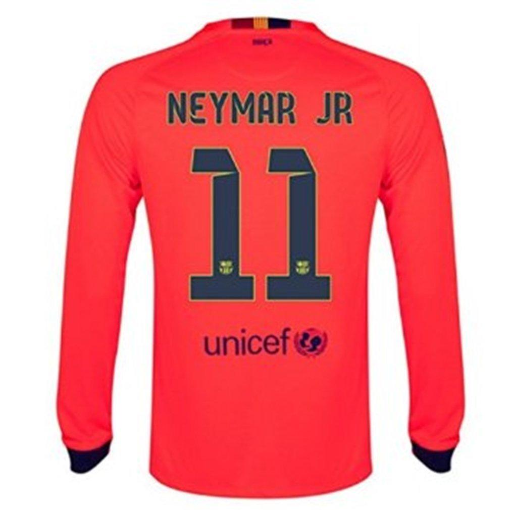 21bb92d28 Get Quotations · Nike 2014-15 Barcelona Long Sleeve Away Shirt Neymar  11  Adult XL