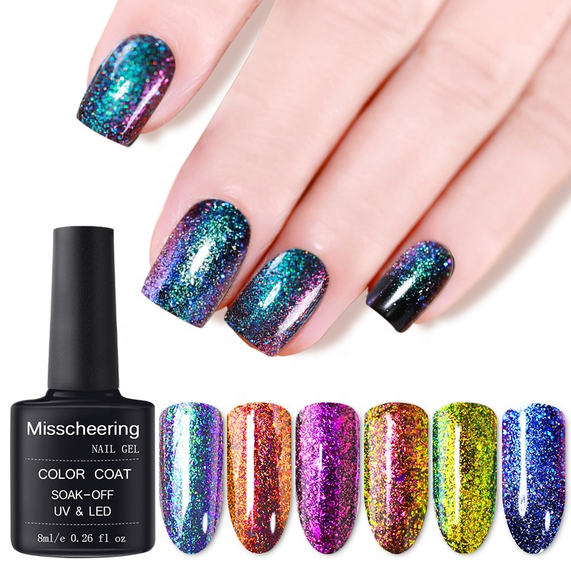 Misscheering 17 Colors 8ML Chameleon Nail Polish <strong>Gel</strong> Paints Crystal Lacquer Soak Off Nail Art UV LED <strong>Gel</strong> Nail Varnish Polish