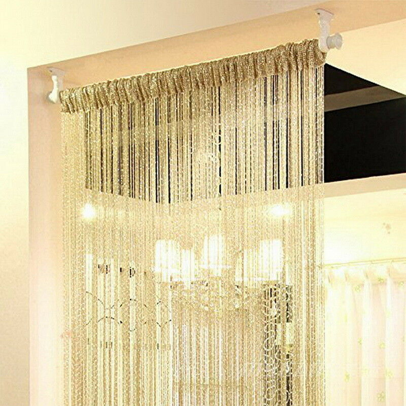 Annual hot sale low price <strong>curtains</strong> decoration Silver string <strong>curtains</strong>