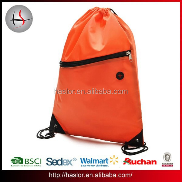 Personalized polyester waterproof drawstring backpack bag for beach & shoe
