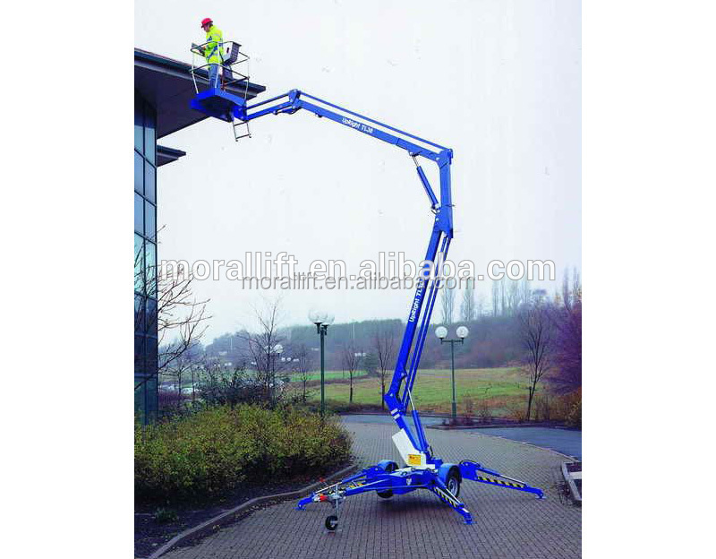 Crank arm genie lift telescopic boom lift