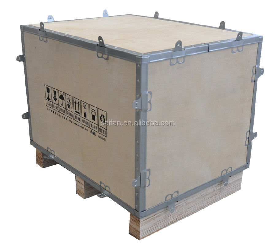 SF collapsible plywood boxes wooden crate in packaging