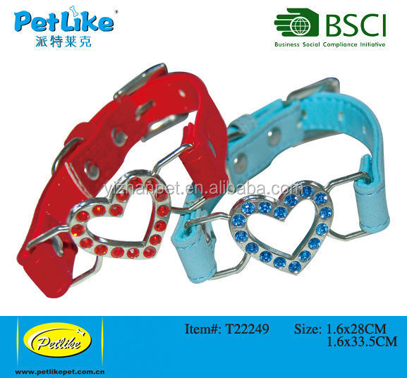 Pu Leather Pet Dog Training Collars custom designed for safety