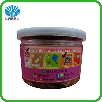 fruit shaped sticker label frozen canned plastic heat resistant meat