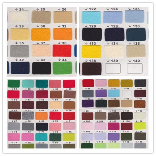 Factory Direct Selling Colorful wool blend felt