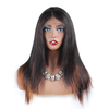 Unprocessed Virgin Brazilian Hair straight Lace Front Wig Human Hair