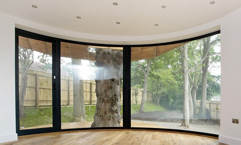 Finest Pvc Aluminum Frame Tempered Glass Curved Glass Windows - Buy  ED13