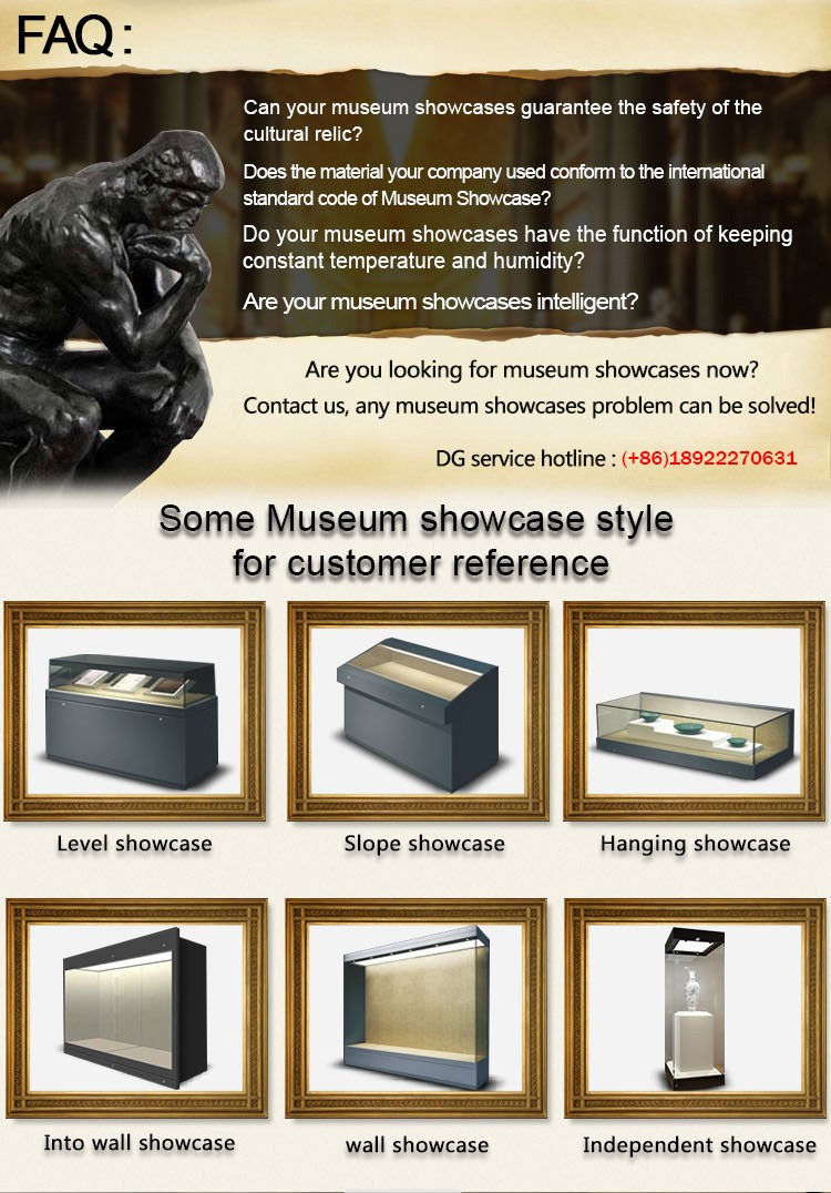 Ultra Clear Tempered Glass Antique Museum Display Cases For Sale - Museums for sale in us