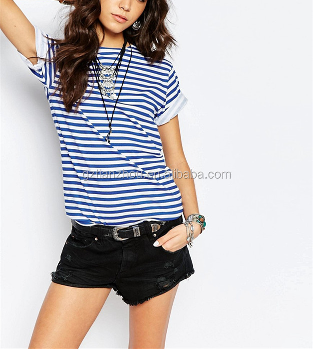 High Quality 100% Cotton Fashion Reclaimed Vintage Striped T-Shirt Cheap Round Neck Short Sleeve T Shirt Top