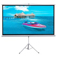Portable 100 inch snow white Tripod Projection Screen projector screen