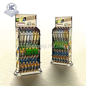 metal beverage bottle & beer can display rack