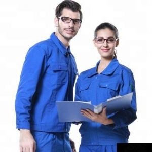 Blue long sleeve labor insurance clothing Anti-dust acid proof water proof coverall workwear labor insurance clothing