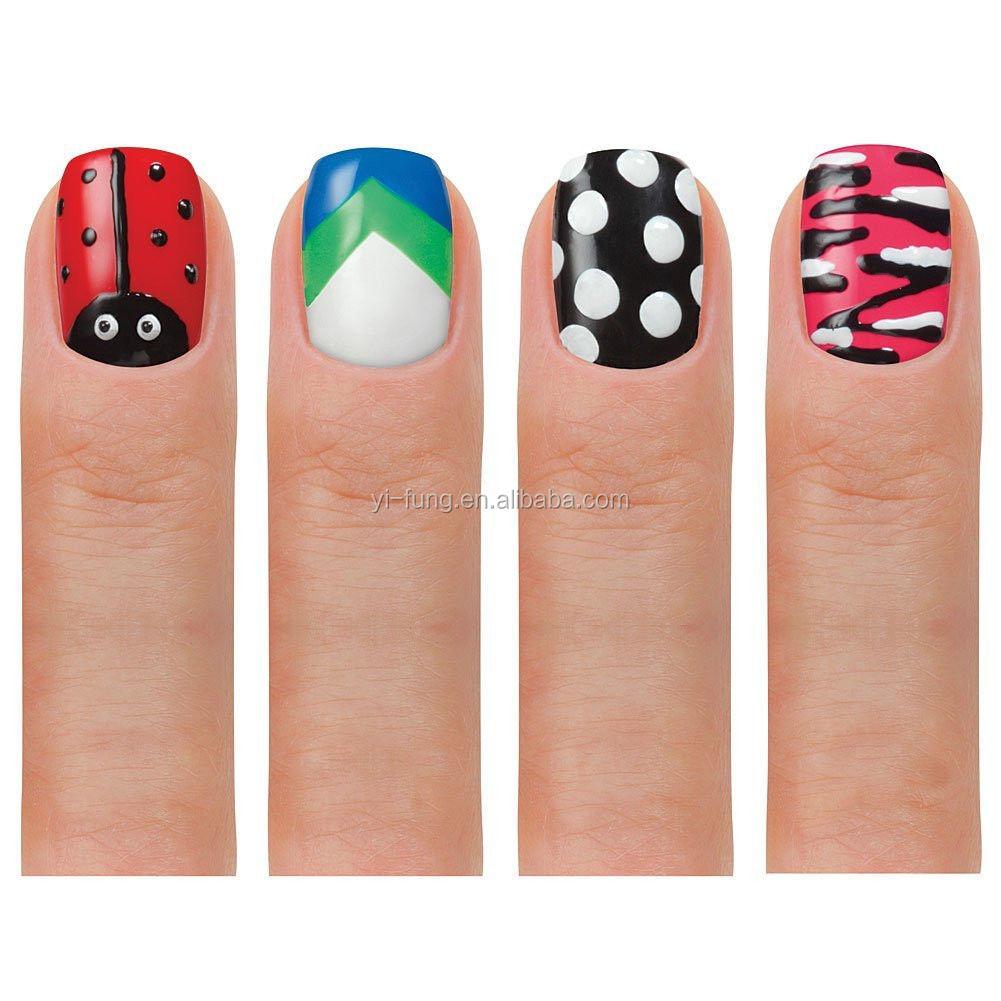 Hot Design Nail Art Pens (2 Colors In One) 6 Basic Beauty Colors Polish