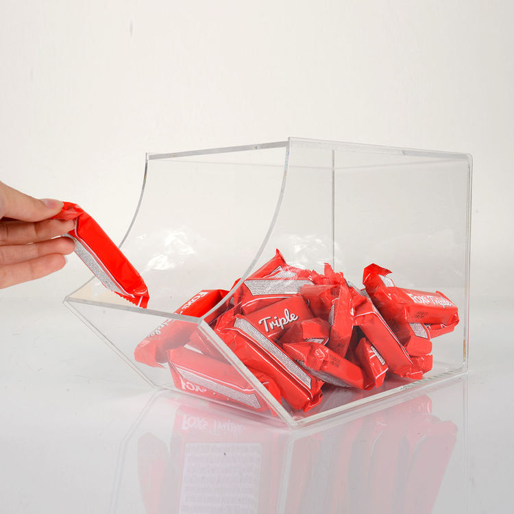 Open pick and mix sweet dispensers in clear acrylic perfect for confectionery and wrapped sweet