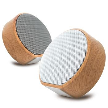 Wood Bluetooth 4.2 Speaker Portable Magnet Stereo Wireless Car Outdoor Mini Computer Bluetooth Speaker Hand-free TF U Disk