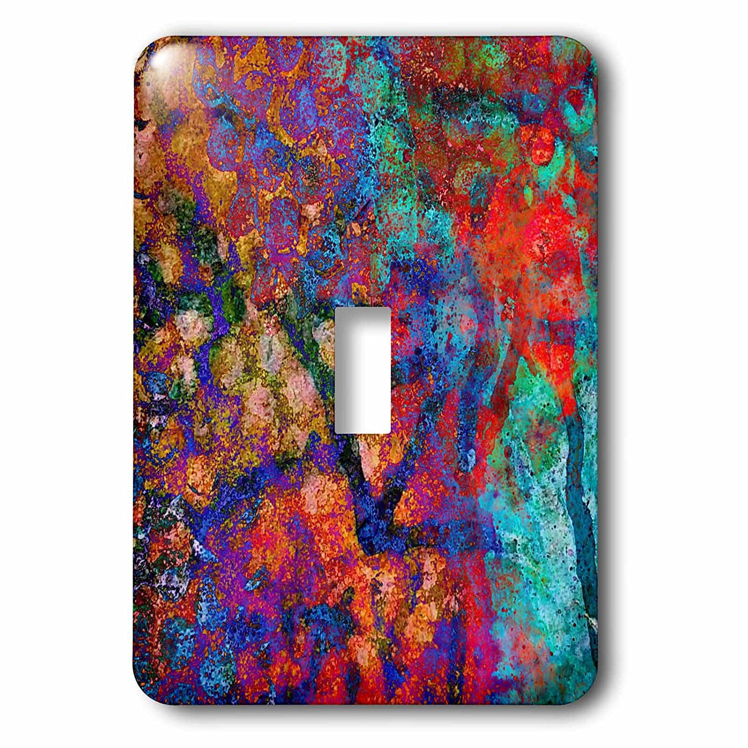 3dRose (1) Single Toggle Switch (lsp_245658_1) Colorful Abstract Snow