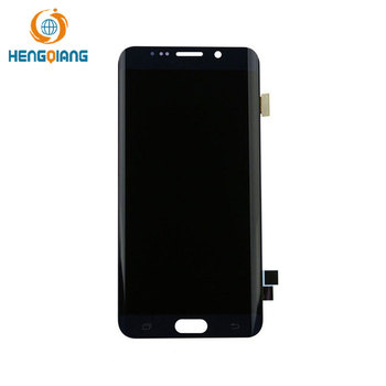 Gold LCD Screen Touch Display 5.1 inch for samsung s6 edge LCD screen