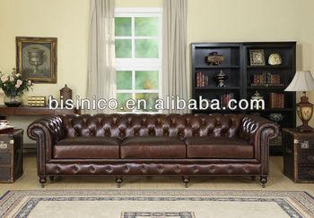 American Style Wohnzimmer Sofa, Leder Wohnzimmer Funiture( B14148)