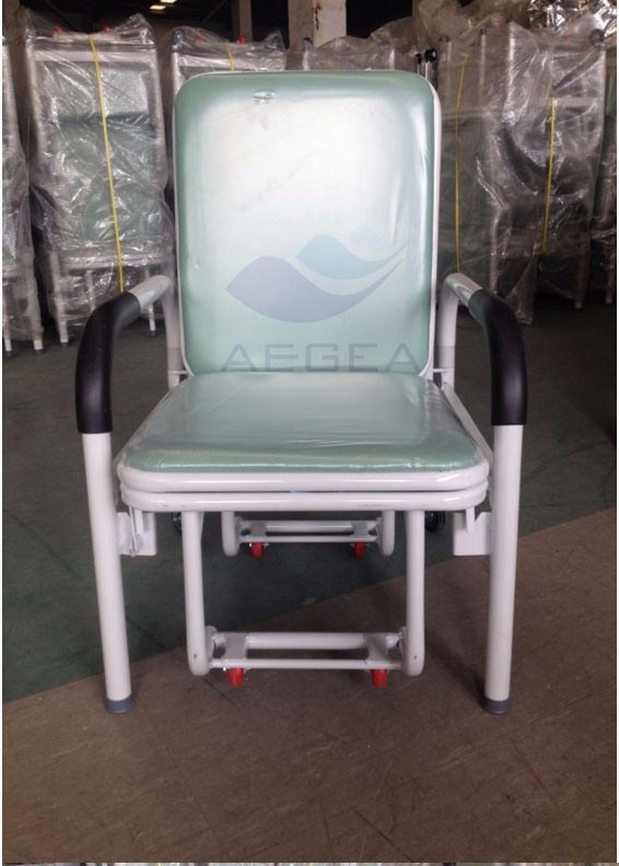 AG-AC001 Metal frame patient sleeping folding equipment hospital accompany chair