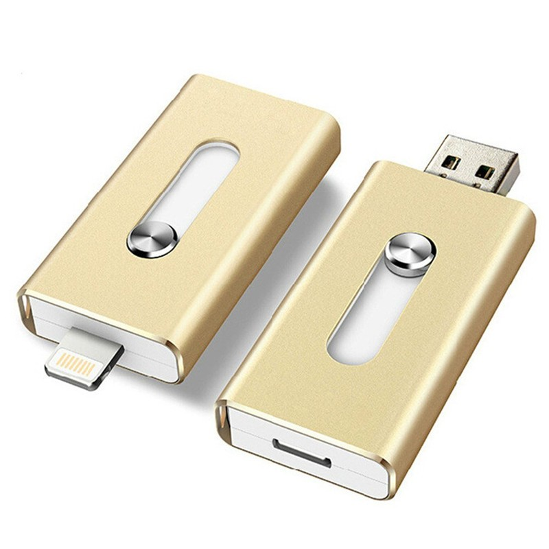 128GB 64GB New OTG Dual USB Flash Drive U Disk For IOS iPhone iPad/PC