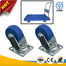 WBD Heavy load cast iron core elastic rubber wheel for trolleys