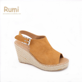 cc8cd1c19 Womens made in china cheap closed toe espadrille wedge sandals shoes ...