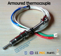 K or J type thermocouple with lead wire dual J type thermocouple